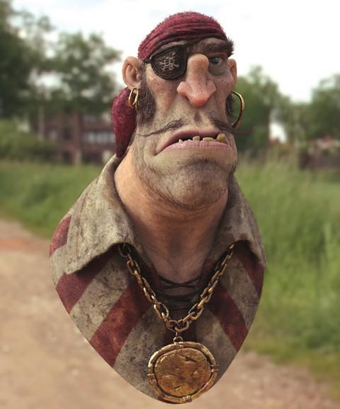 如何使用ZBrush创建3D海盗角色