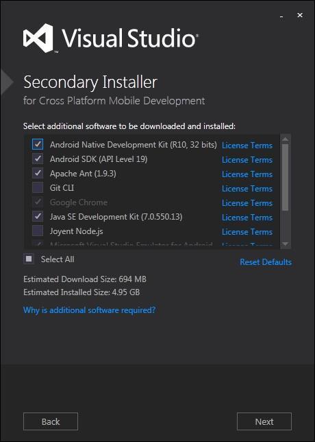 Visual Studio 2015 安装图文详细步骤